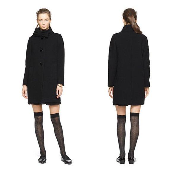Kate Spade Bow Neckline Coat, 80% wool